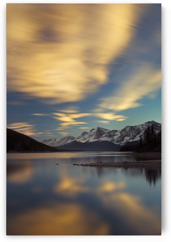 The Upper Lake At Sunset; Kananaskis, Alberta, Canada by PacificStock