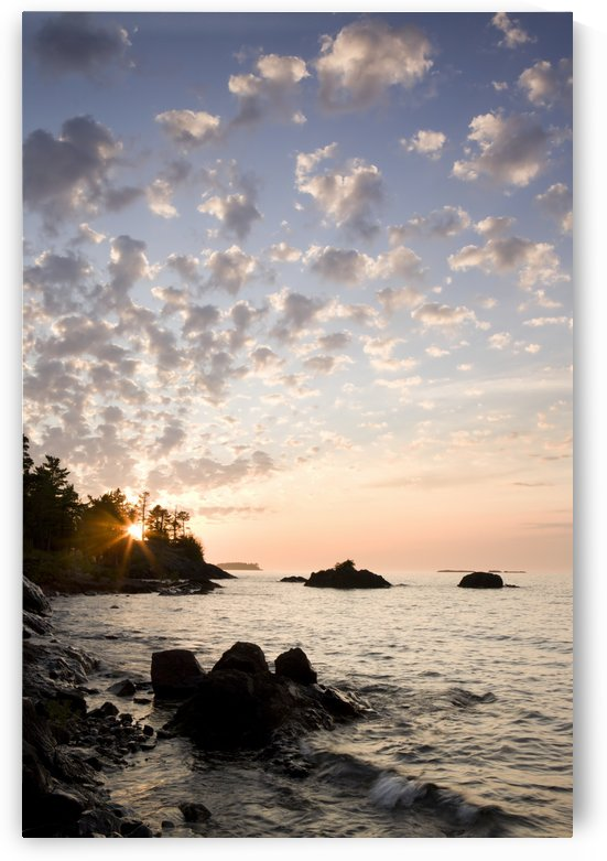 Sunset On The South Shores Of Lake Superior; Michigan, United States Of America by PacificStock