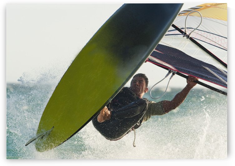 A Windsurfer; Tarifa, Cadiz, Andalusia, Spain by PacificStock