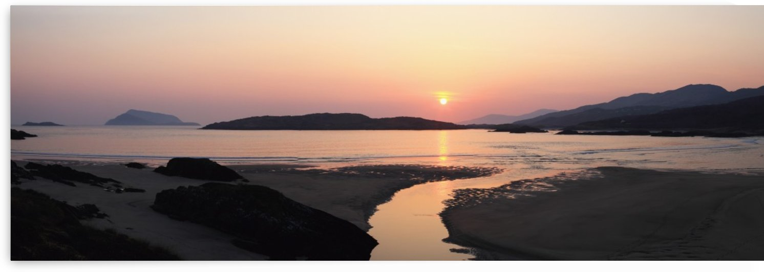 Sunset Over Beach; Derrynane Beach, County Kerry, Ireland by PacificStock