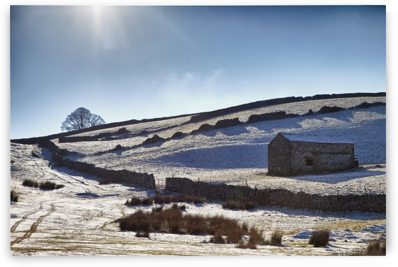 Snowy Field; Yorkshire Dales, England by PacificStock