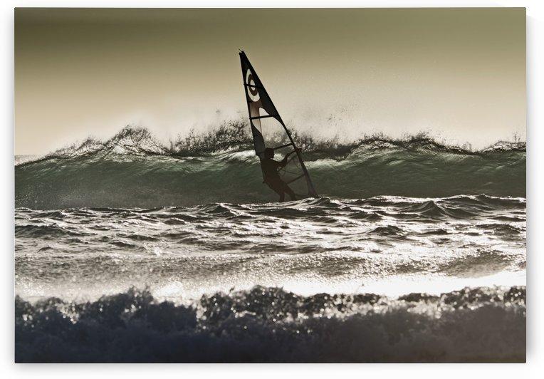 Windsurfing; Los Lances Beach, Tarifa, Cadiz, Andalucia, Spain by PacificStock
