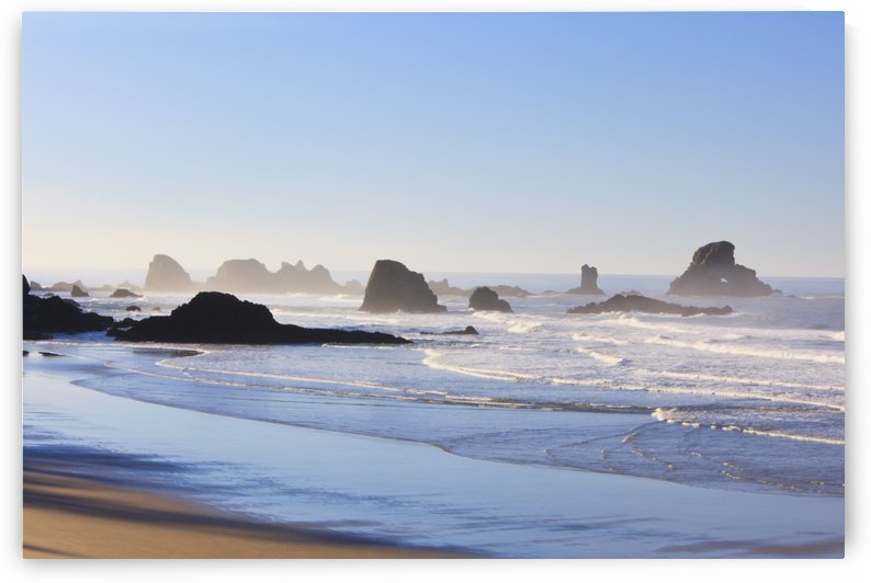 Tide At Indian Beach; Oregon, United States Of America by PacificStock