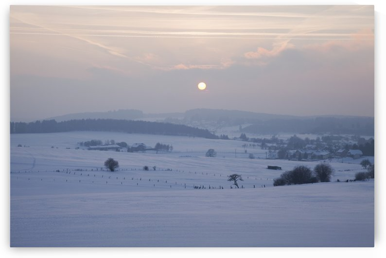 Winter Sunrise; Westerwald Rhineland-Palatinate Germany by PacificStock