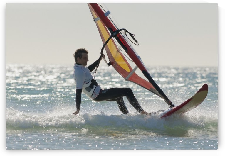 Windsurfing; Los Lances Beach Tarifa Spain by PacificStock