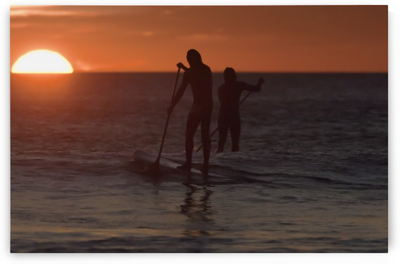 Wakeboarding At Sunset; Los Lances Beach Tarifa Spain by PacificStock