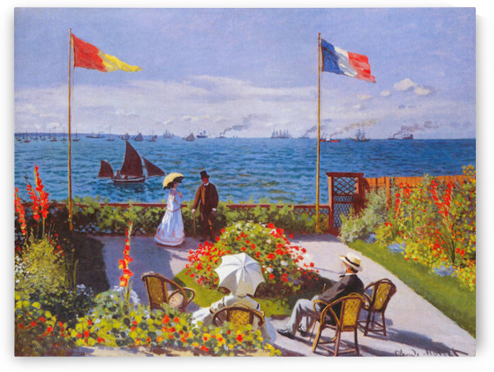 Claude Monet - Garden at Sainte Adresse by