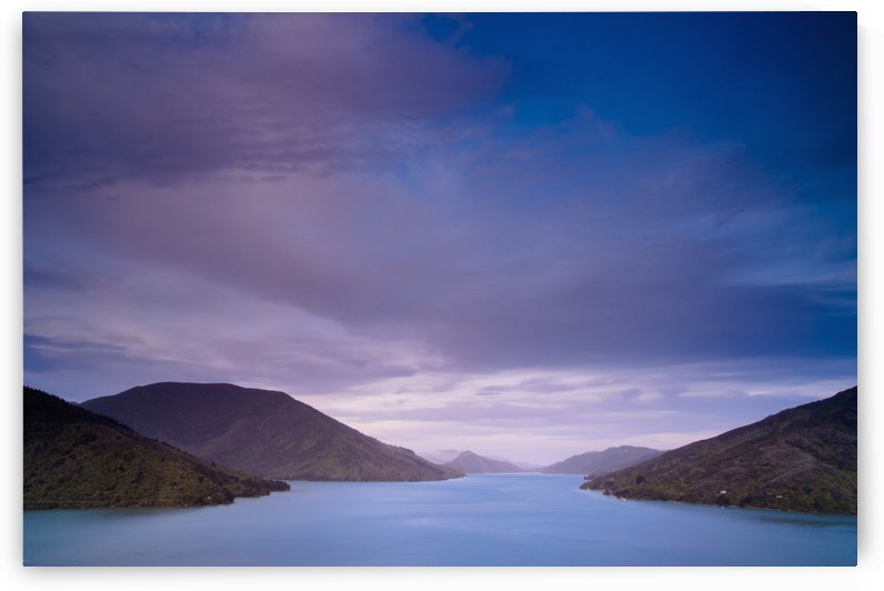 Mountains Along The Coastline Under A Cloudy Sky; Havelock, South Island, New Zealand by PacificStock