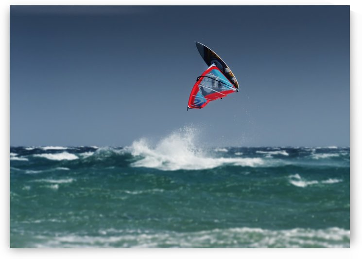A Windsurfer Flips Upside Down Above The Water Off Punta Paloma; Tarifa, Cadiz, Andalusia, Spain by PacificStock