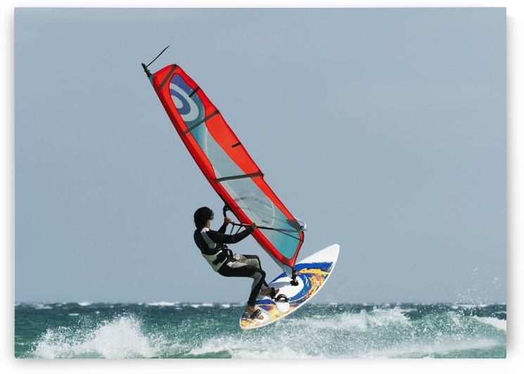 A Windsurfer In The Water; Tarifa, Cadiz, Andalusia, Spain by PacificStock