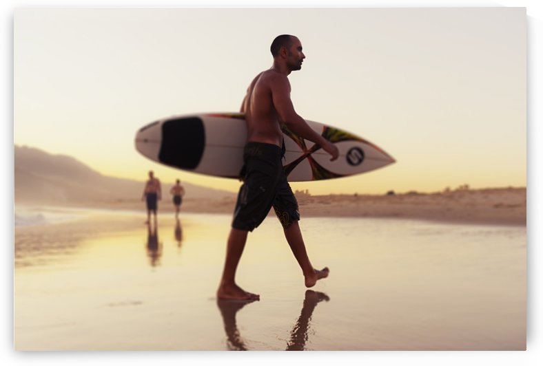 A Man Walking With His Surfboard On Valdevaqueros Beach; Tarifa Cadiz Andalusia Spain by PacificStock