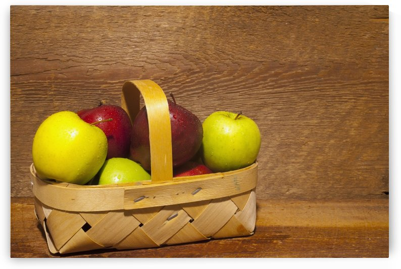 Apples In A Basket; Waterloo, Quebec, Canada by PacificStock