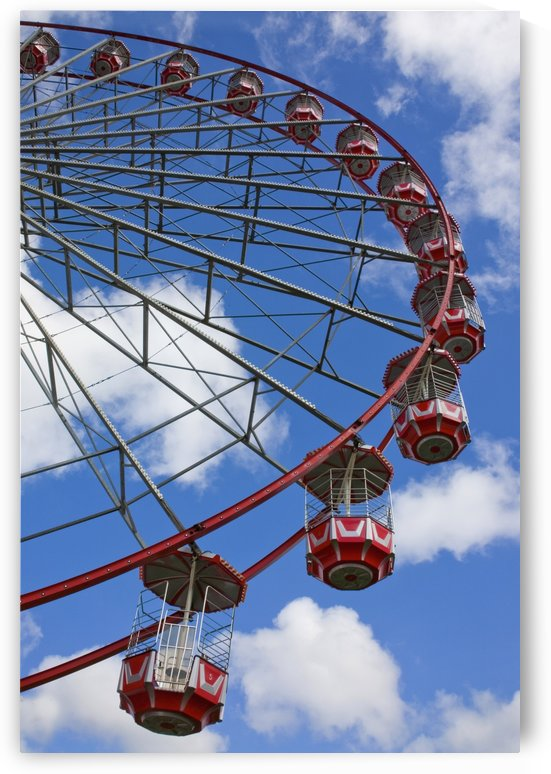 A Large Red Ferris Wheel; Newcastle Upon Tyne, England by PacificStock