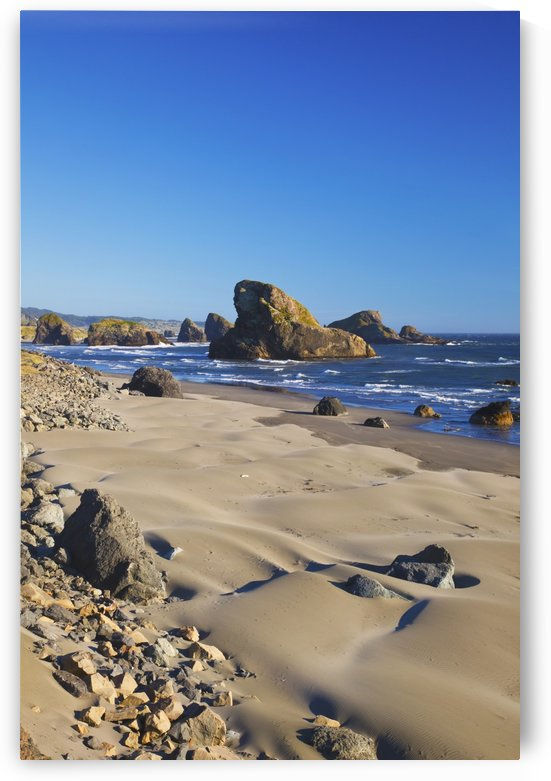 Rock Formations Along The Coast At Cape Sebastian State Park; Oregon, United States of America by PacificStock