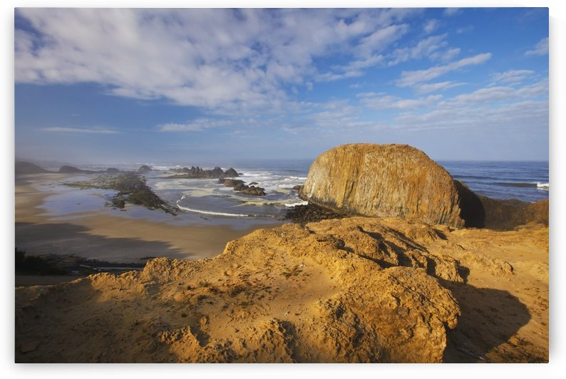 Clouds Over Seal Rock In Seal Rock State Recreation Site; Oregon, United States of America by PacificStock