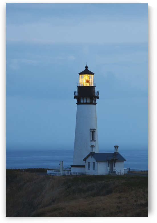 Sunrise At Yaquina Head Lighthouse; Newport, Oregon, United States of America by PacificStock