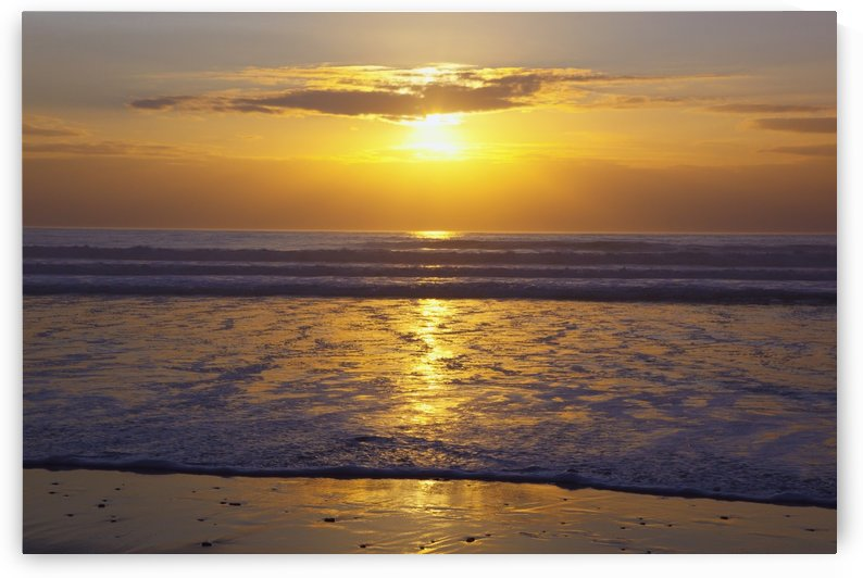 Sunset Over The Pacific Ocean Along The Oregon Coast; Oregon, United States of America by PacificStock