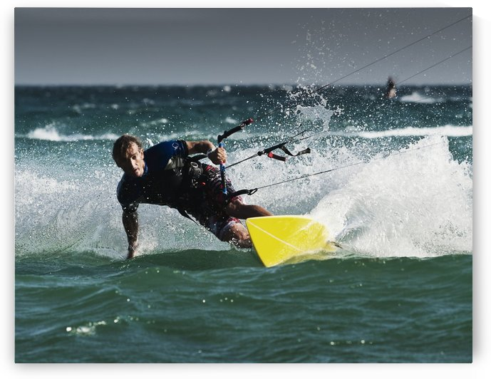 A Man Kitesurfing; Tarifa, Cadiz, Andalusia, Spain by PacificStock