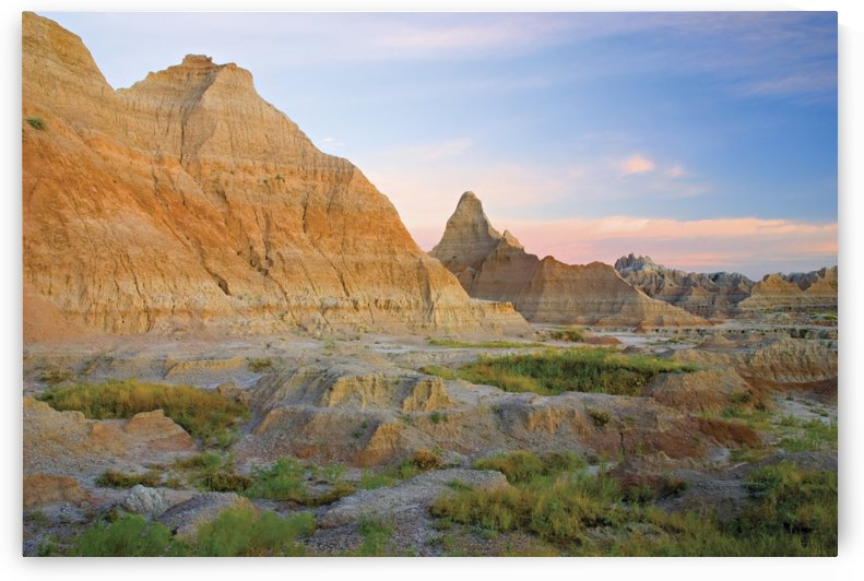 Red Sunrise On The Hills Of Badlands National Park; South Dakota, United States of America by PacificStock