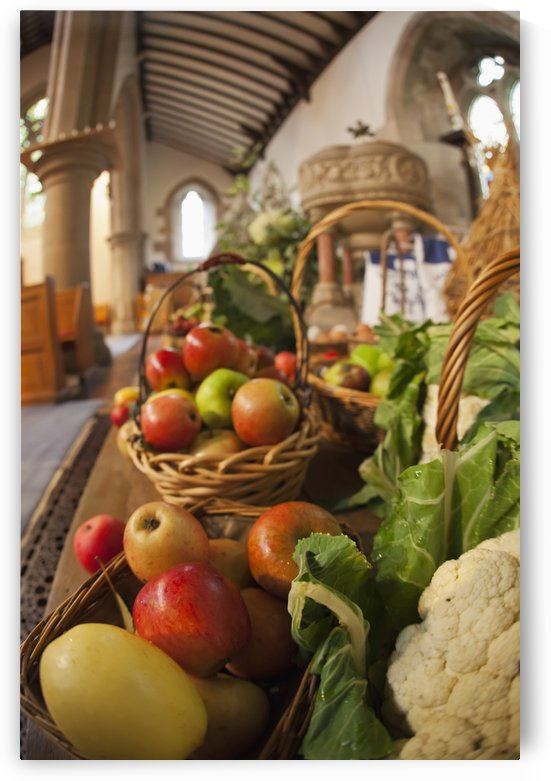 Fresh Food On Display On A Table For Harvest Festival; Kelso, Scottish Borders, Scotland by PacificStock