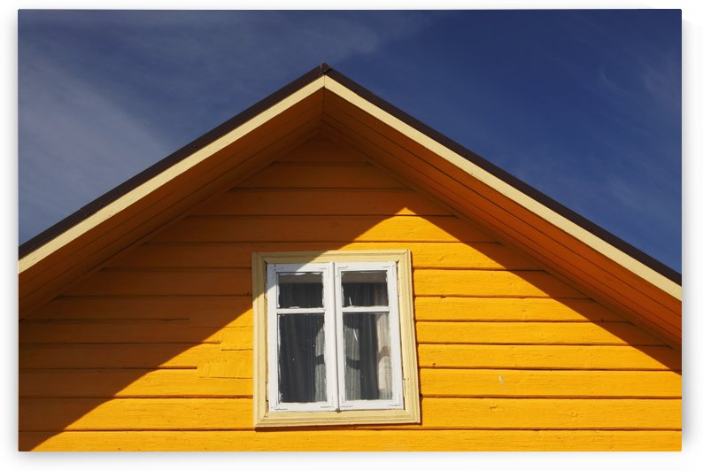 Yellow Timber House; Trakai Village, Lithuania by PacificStock