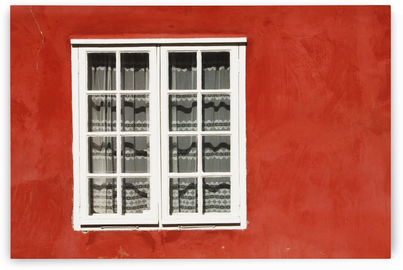Red Timber House And Window Frame In The Old Town; Porvoo, Finland by PacificStock
