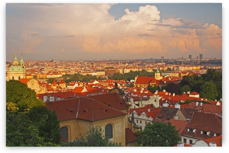 View Of Prague Rooftops From Castle Hill; Prague, Hlavni Mesto Praha, Czech Republic by PacificStock