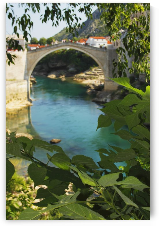 Stari Most Or Old Town Bridge Over The River Neretva; Mostar, Muslim-Croat Federation, Bosnia and Herzegovina by PacificStock
