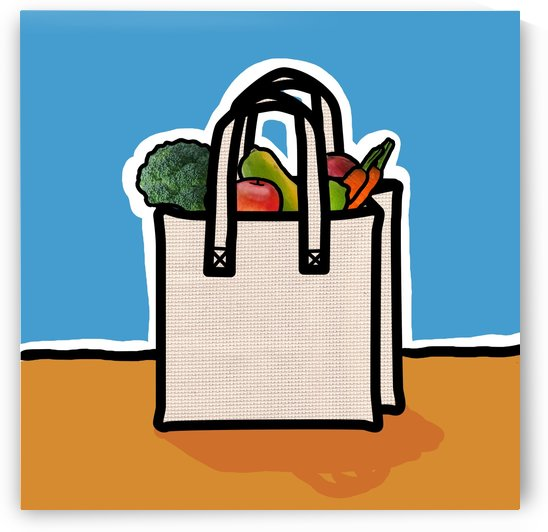 Cloth Shopping Bag With Vegetables by PacificStock