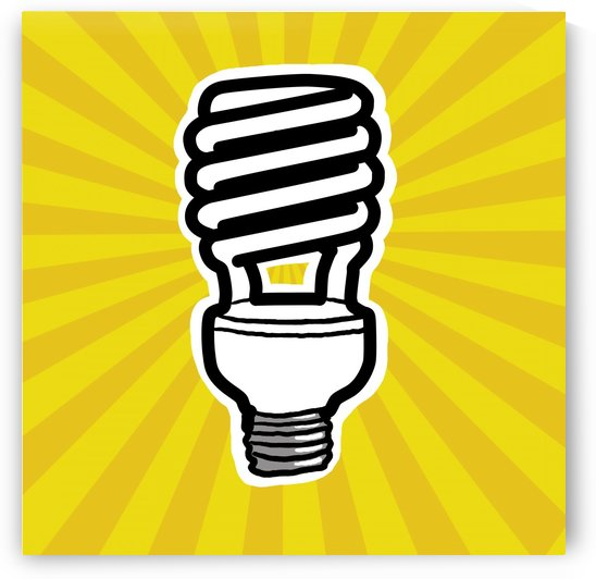 Compact Fluorescent Lightbulb by PacificStock