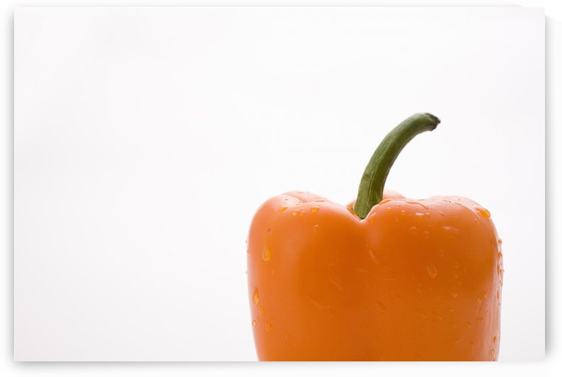 Side View Orange Pepper by PacificStock