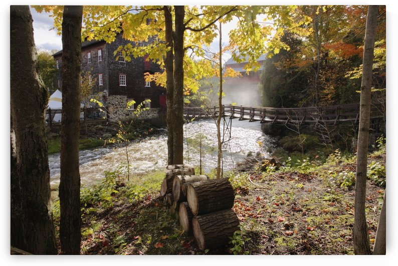 View Of Ulverton Wool Mill, Eastern Townships, Quebec, Canada. by PacificStock
