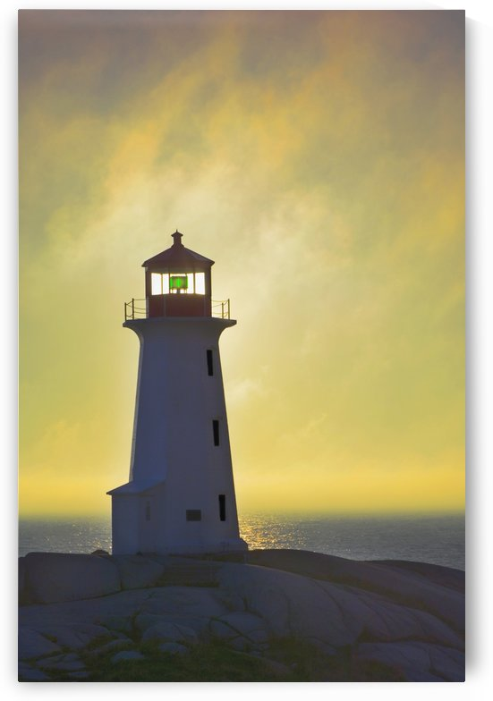 Sunset Over Peggy's Cove Lighthouse. by PacificStock