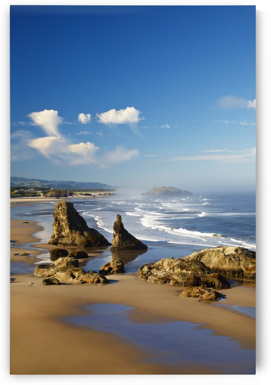 Morning Light Adds Beauty To Rock Formations At Bandon State Park; Oregon, United States of America by PacificStock