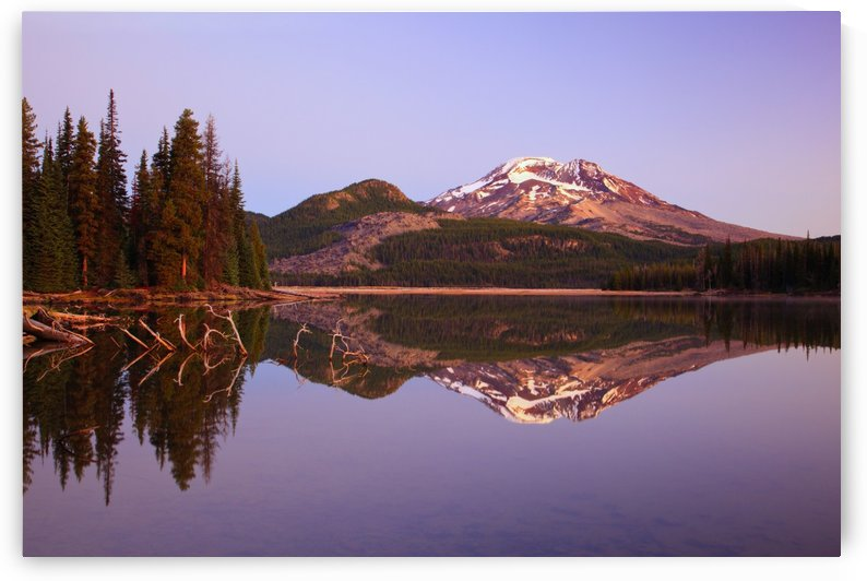 Sunrise Over Sparks Lake And South Sister In The Three Sisters Wilderness; Oregon, United States of America by PacificStock