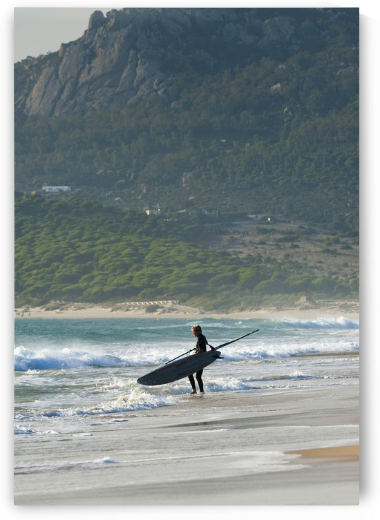 Windsurfer Standing On The Beach; Tarifa, Cadiz, Andalusia, Spain by PacificStock