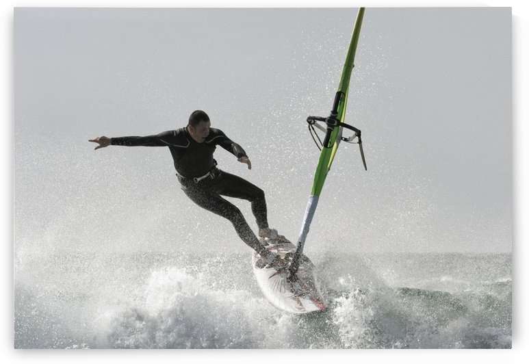 Windsurfing; Tarifa, Cadiz, Andalusia, Spain by PacificStock