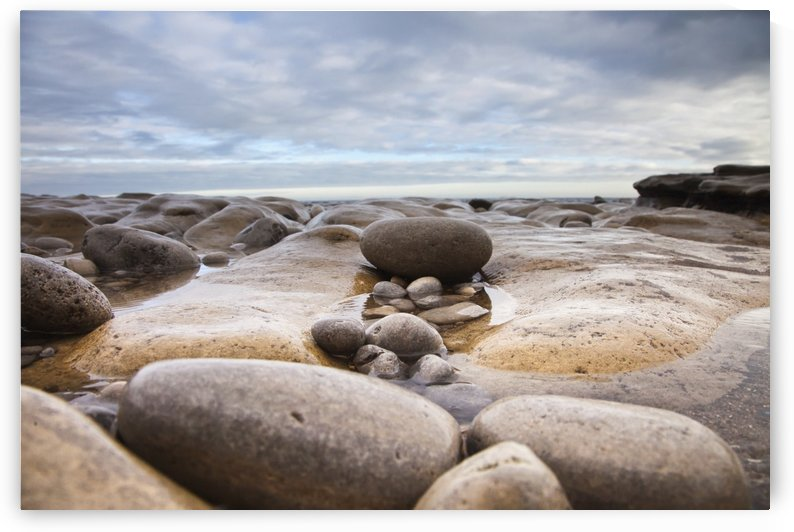 Wet Rocks Along The Coast; South Shields, Tyne And Wear, England by PacificStock