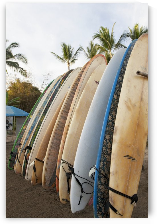 Surfboards Standing Up Against A Rack On The Beach; Sayulita, Mexico by PacificStock