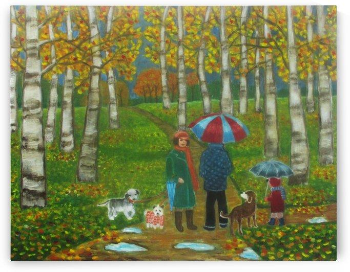 a walk in the rain by Gloria Gill