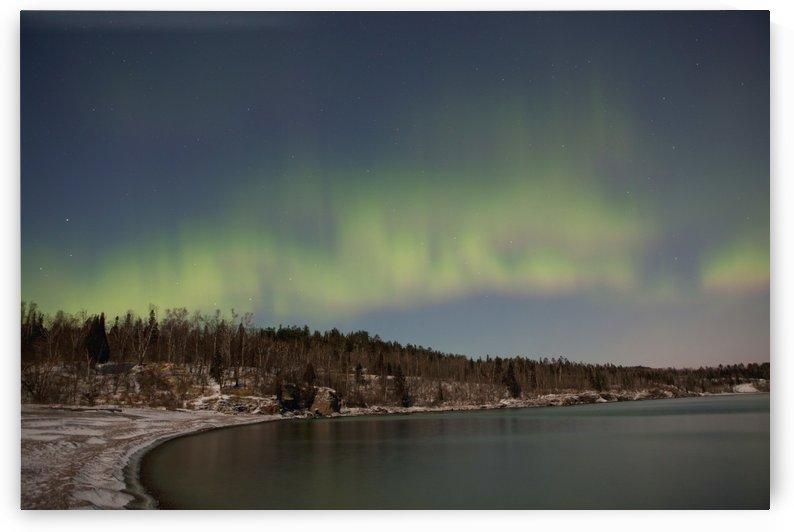 Northern Lights Aurora Borealis Over Lake Superior; Thunder Bay, Ontario, Canada by PacificStock