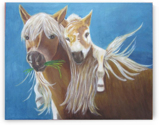 horse and rider by Gloria Gill