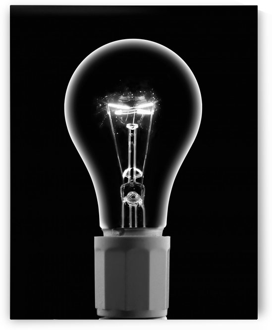 Light Bulb With Current by PacificStock