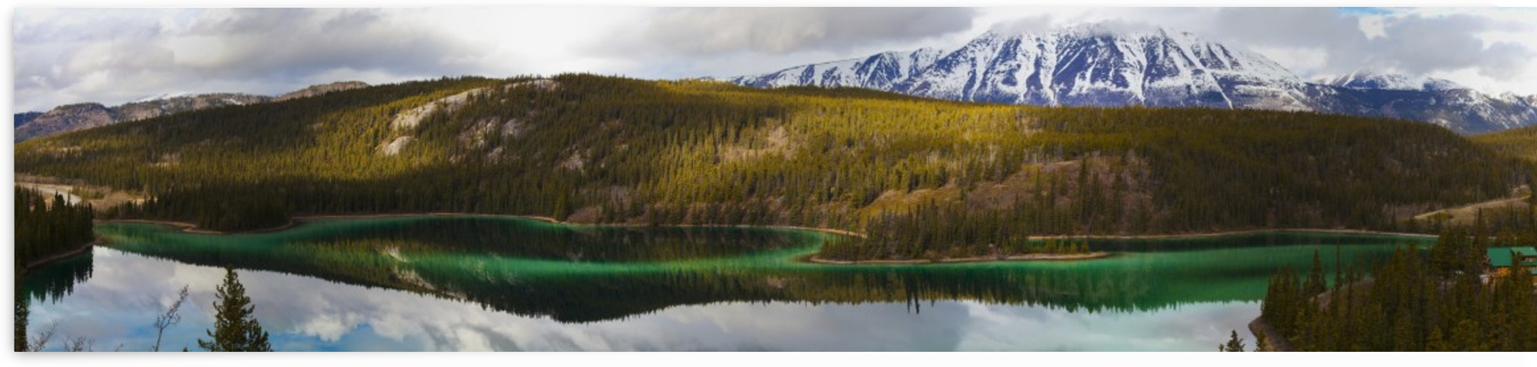 Emerald lake panorama;Carcross yukon canada by PacificStock