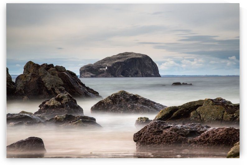 Lighthouse on bass rock;Scottish borders scotland by PacificStock