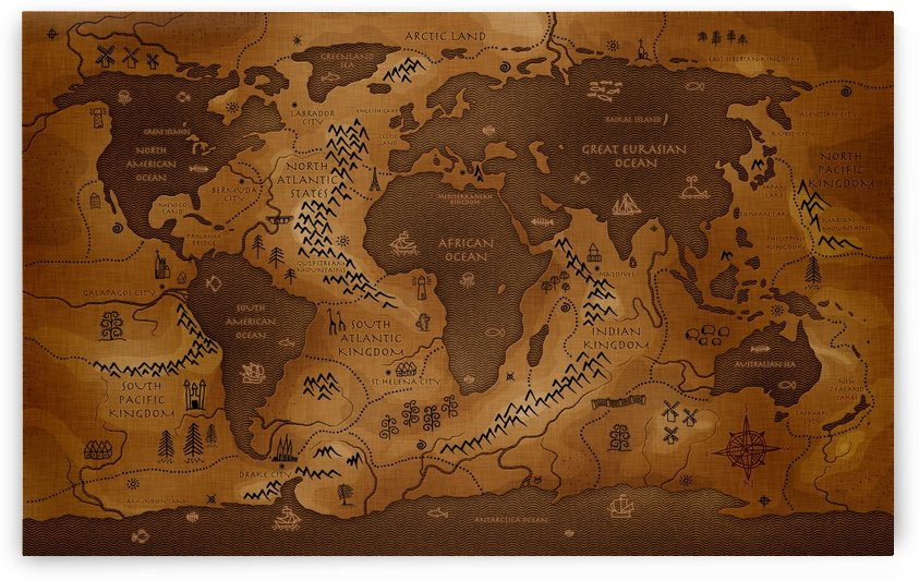 Ancient World Map by WorldFlag