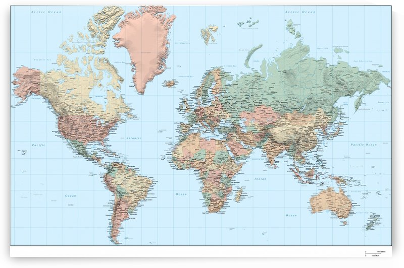 World Map Hi-res by WorldFlag