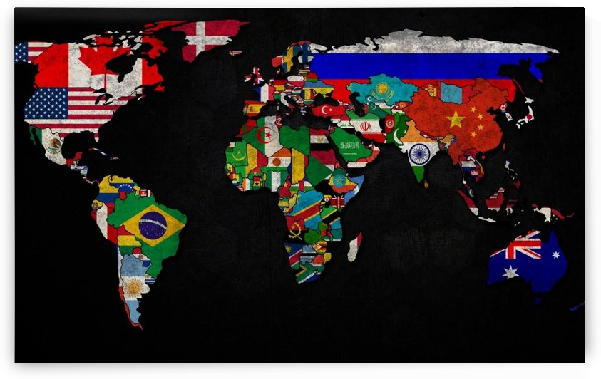 World Map Country Flag by WorldFlag