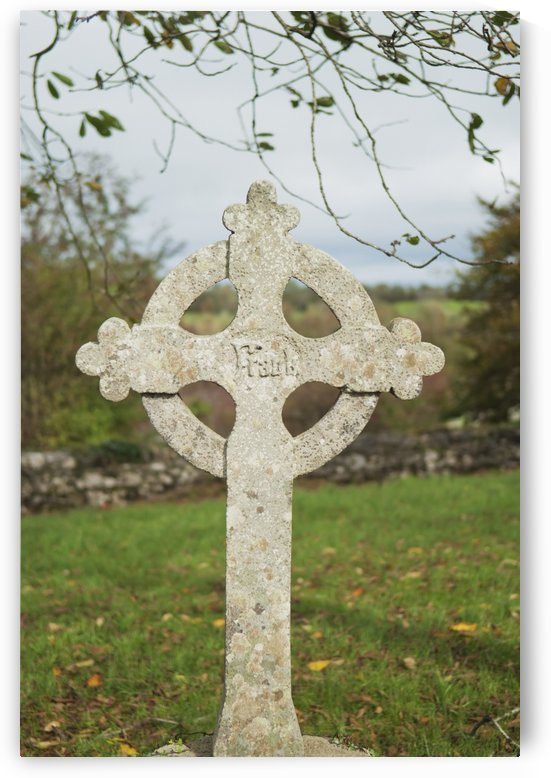 A celtic cross tombstone;Ireland by PacificStock