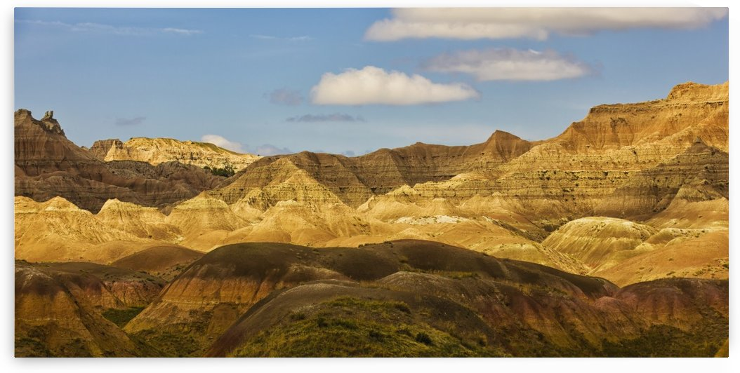 Dramatic light on the eroded formations of badlands national park; south dakota united states of america by PacificStock